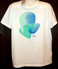 Hugo Boss  White Graphic Cotton Slim Fit Mens T- Shirt Size 2XL NEW