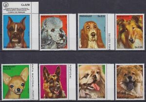 Dogs Fauna Paraguay Mi No. 2655 - 2662, Mint, Hinged