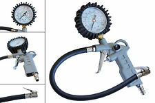 Air Inflator Gun & Dial Compressor Gauge Manometer Hose Car Motorbike Truck /G60