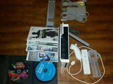 Nintendo Wii Console Bundle RVL-001 Controllers,6 games (Wii Sports) Mario &more