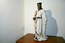 Magnifique Statue personnage chinois  ancien en terre cuite émaillée