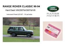 RANGE ROVER CLASSIC 90-94 Hard Dash instrument panel 19 bulbs LED KIT