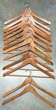 Lot of 13 Solid Wood Curved-Back Wishbone Coat Clothing Clothes Suit Hangers