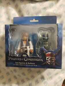 Medicom Bearbrick & Kubrick 100% Jack Sparrow & Barbossa Pirates Of The...