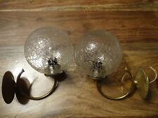 LOT 2 APPLIQUES LUMINAIRES LAMPE CISELEE BRONZE LAITON ANNEES 60-70