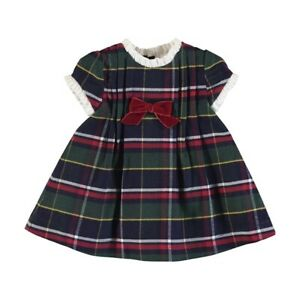 New Mayoral Baby Girls Plaid Dress , Age Newborn, (2867)