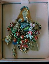 RARE KIRKS FOLLY VINTAGE RETIRED ALICE IN WONDERLAND BROOCH PIN  PRE-OWNED