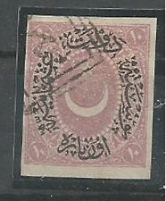1876 TURKEY DULOS DULOZ  ISS. 10p LILAC  IMPERFORATED USED ERROR RRR