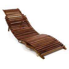 DIVERO Strandliege faltbar Sonnenliege Gartenliege Liege Akazie Holz Faltliege
