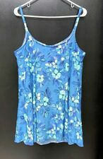 b3c71ecc755 L.L. BEAN Womens Swimsuit One Piece Bathing Suit Blue Floral Sz 22 Plus