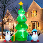 7FT Christmas Inflatables, Christmas Tree Inflatable Outdoor Decorations with Pe