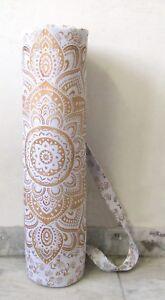 New Yoga Mat Bag Portable Sports Mandala Cotton Adjustable Shoulder Strap Bag 01