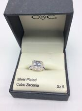 $25 Macy's CBC silver plated Cubic Zirconia ring size 5 C100