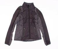 Womens Lululemon Black And Gray Panel Mock Neck Full Zip Jacket Size 8