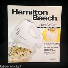 Hamilton Beach Hand Mixer with Snap-On Case, 250 Watts, White, 62682R NEW IN BOX