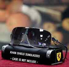 Khan Men's Aviator Shield Sunglasses Bike Sports Fashion Shade Silver/Royal Blue