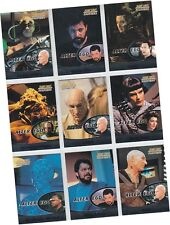 "Star Trek TNG Next Generation Profiles: 9 Card ""Alter Ego"" Chase Set AE1-AE9"