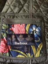 BARBOUR William Morris & Co Quilted Jacket Size 14 Olive Green