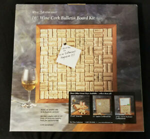 "Wine Enthusiast 16"" Wine Cork Bulletin Board Kit: Brand New"