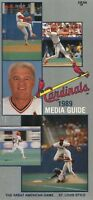 1989 St Louis Cardinals Media Guide Ozzie Smith