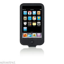 BELKIN iPOD 2G 3G TOUCH BLACK LEATHER SLEEVE CASE NEW