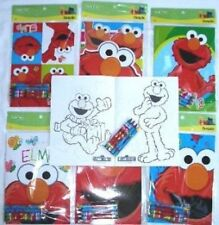 12 SESAME STREET Elmo Coloring Books & 48 Crayons Party Favor School Supply Lot