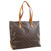 LOUIS VUITTON CABAS MEZZO SHOULDER TOTE BAG PURSE MONOGRAM M51151 TH1021 30814
