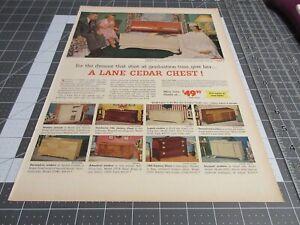 1953 Lane Cedar Chest, dreams start at graduation - Print Ad