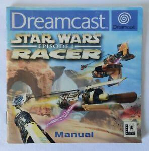 Sega Dreamcast Manual Only - Star Wars: Episode 1 Racer