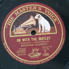 "78rpm 12"" BROWNING MUMMERY on with the motley / your tiny hand is frozen"