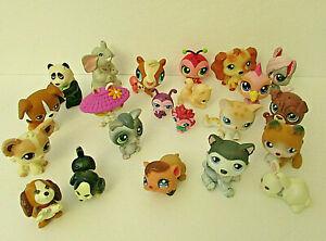 Littlest Pet Shop Lot of 22 LPS Toys: Rabbit,  Whale, Cat, Dog, Cat, Some Older