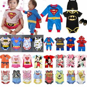 Baby Jungen Superhelden Superman Kostüm Mädchen Kinder Strampler Overall Romper