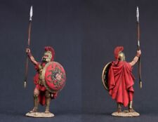 Tin toy soldiers  painted 54 mm greek commander with gorgon on shield
