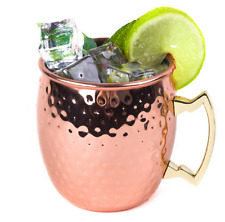 100% Pure Copper Hammered Moscow Mule Mug Christmas Gift  Weight Loss Ayurveda