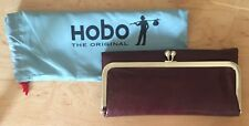 Nwt Women's Hobo International Leather Wallet Rachel, Mahogany Brown