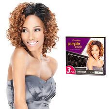 Outre Premium Purple Pack 3PCS Human Hair Blend Weaving Extension - Disco Curl