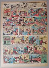 Mickey Mouse Sunday Page by Walt Disney from 12/30/1945 Tabloid Page Size