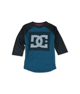 DC Mens Offshot Raglan Graphic T-Shirt, Blue, Small