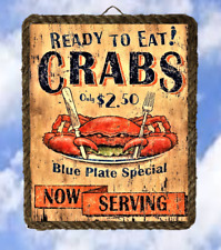 Coastal Ocean 7 Sea Food Decor Art Prints Blue Crab lalarry Rope Frame Ventage