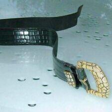 "YVES SAINT LAURENT Vintage 80's Crocodile Belt Size 75 or 30""  Very Good !"