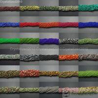 Natural Gemstones 3.5mm ~ 4mm ~ 4.5mm Round Loose Beads 15'' ~ 16'' Strand Pick