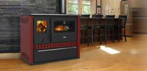 EEK A Kitchen Stove Wood Stove-Prity GT FS S Dr Red - 15 KW