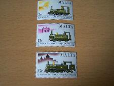 MALTA,TRAINS SET,3 VALS,U/MINT.EXCELLENT.