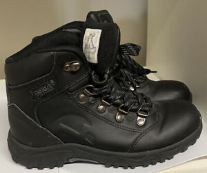 GELERT KIDS BLACK LACE UP BOOTS  UK SIZE  2 VGC