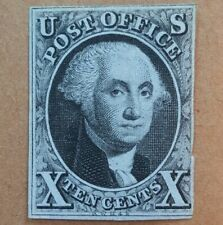 US Sc #2 Black 1847 Washington Mint. Scott $15,000.
