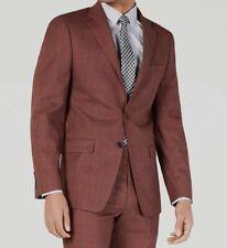 $480 Calvin Klein 38R Men's Red Slim Fit Wool Solid Jacket Suit Coat Blazer