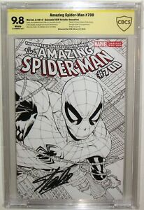 CBCS>CGC SS 9.8 AMAZING SPIDER-MAN #700 SIGNED STAN LEE QUESADA SKETCH VARIANT