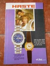 70s WATCH catalog HASTE STEELCO ad BROCHURE vintage RETRO watches steele mod