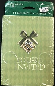 12 pack CHRISTMAS INVITATIONS & env ~ HOLIDAY PARTY ~ AG Designer Collection