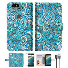Seamless pattern with paisley Wallet Case Cover For Google Pixel 2 -- A022